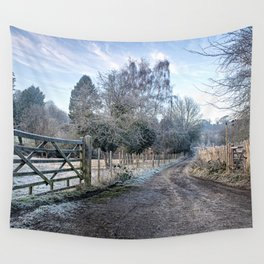 Frosty Lane Wall Tapestry
