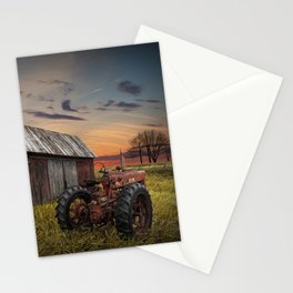 Abandoned Farmall Tractor and Barn Stationery Cards