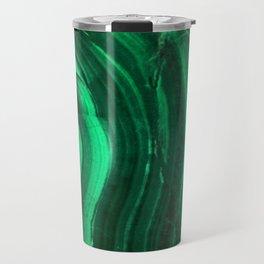 Malachite Texture Travel Mug