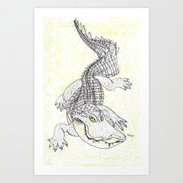 Smiling Gator Art Print