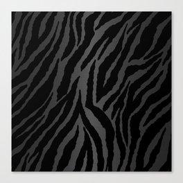 Zebra Stripes & Dark Metallic Canvas Print