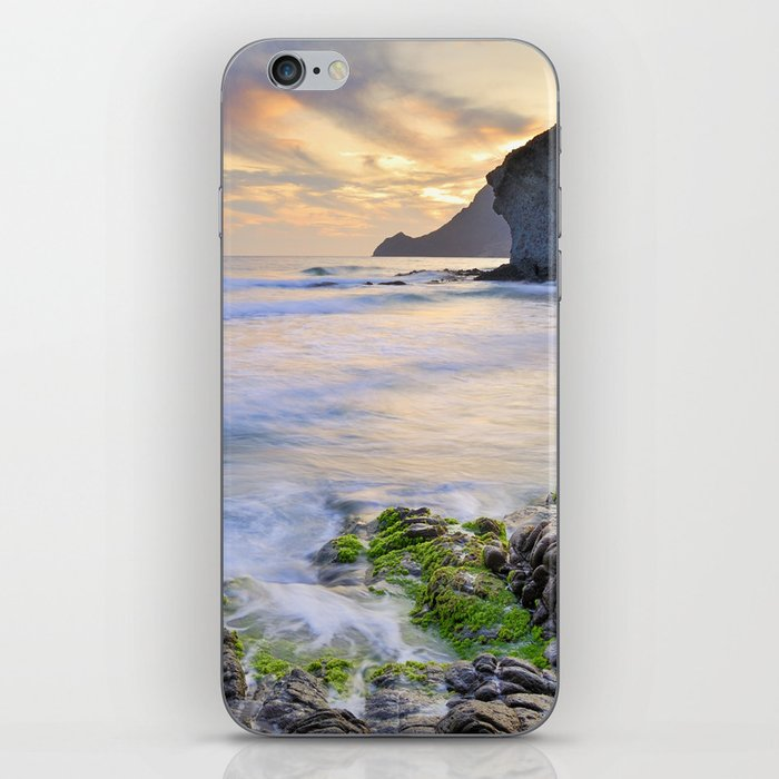 lonely sunset at the sea iPhone Skin