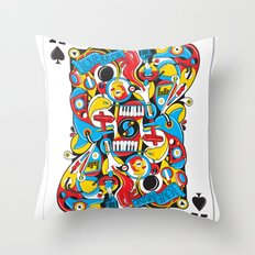 King Of Spades Throw Pillow