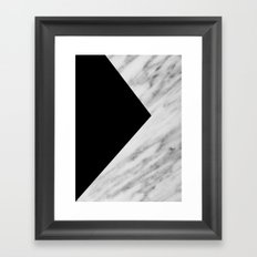 Black Marble Collage Framed Art Print
