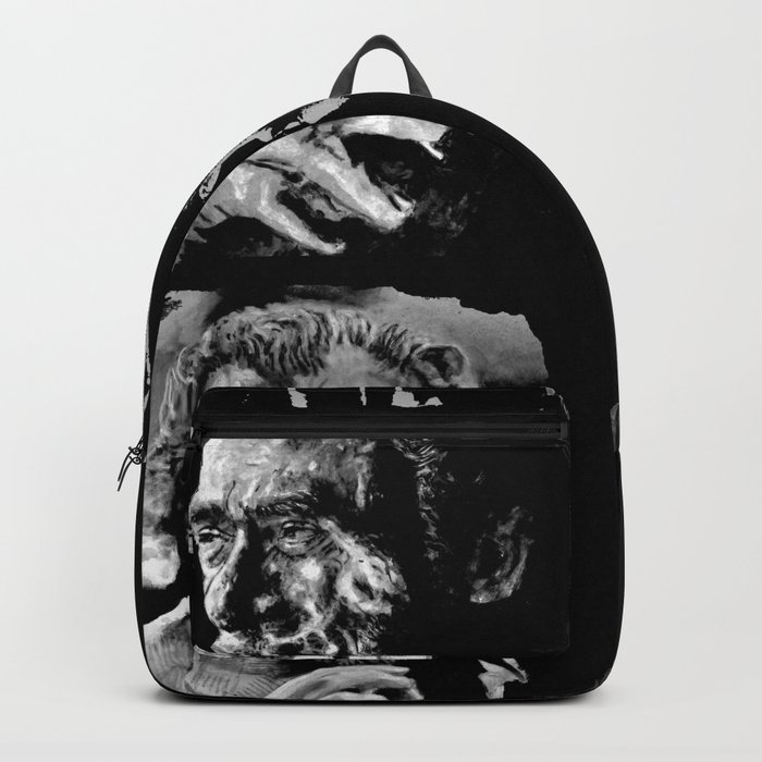 BUKOWSKI collage - The FREE SOUL quote Backpack
