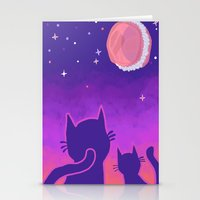 macaroon Stationery Cards featuring Macaroon Moon by Noirabbit