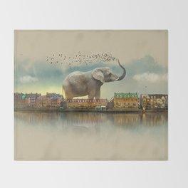 Travelling elephant Throw Blanket