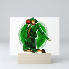 Leprechaun Basketball Mini Art Print