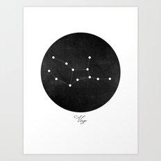 Virgo Constellation Art Print  Art Print