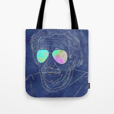 Albert wears his sunglasses at night Tote Bag