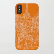 Paris! Orange Sun Slim Case iPhone X