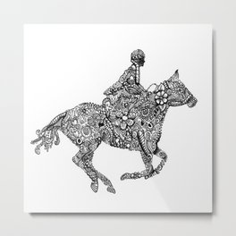 Horse Rider Metal Print