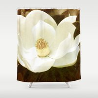 magnolia Shower Curtains featuring Magnolia by Sharlee