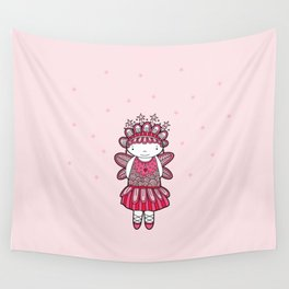 Pink Angel Wall Tapestry