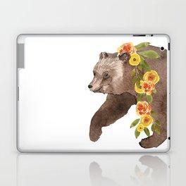 Bear with flower boa Laptop & iPad Skin