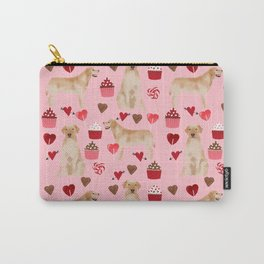 Yellow Lab valentines day hearts cupcakes cute labrador retriever Carry-All Pouch
