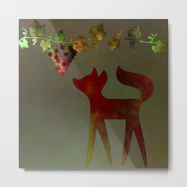 The fox and the grapes Metal Print