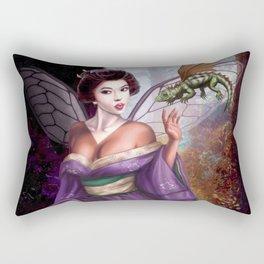 Geisha Fairy and Orson the Dragon Rectangular Pillow