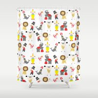 circus Shower Curtains featuring Circus by Lydia Meiying
