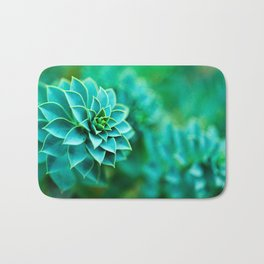 Green Succulent Mandala Badematte