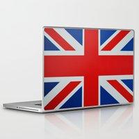 union jack Laptop & iPad Skins featuring Union Jack by MICHELLE MURPHY