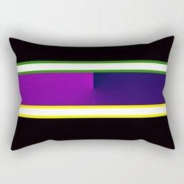 Team Colors 3,,,navy,purple,green and yellow Rectangular Pillow