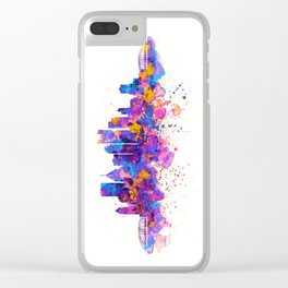 Pittsburgh Skyline Clear iPhone Case