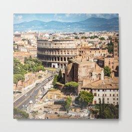 Rome aerial view Metal Print