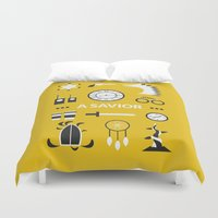 ouat Duvet Covers featuring OUAT - A Savior by Redel Bautista