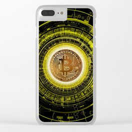 Bitcoin Blockchain Cryptocurrency Clear iPhone Case