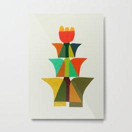 Whimsical bromeliad Metal Print