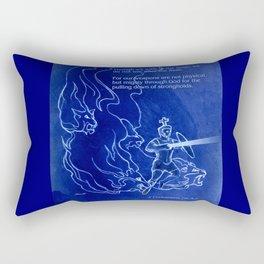 Warrior 3 With Heavenly Host Rectangular Pillow