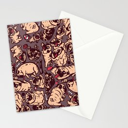 Pugs meeting Stationery Cards