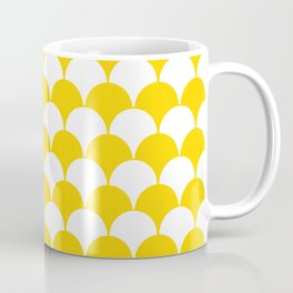 Fan Pattern 321 Yellow Coffee Mug