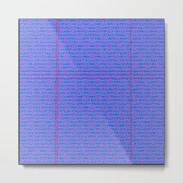 woven colors 10 Metal Print