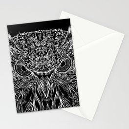 OWL PEERING INTO THE NIGHT Stationery Cards