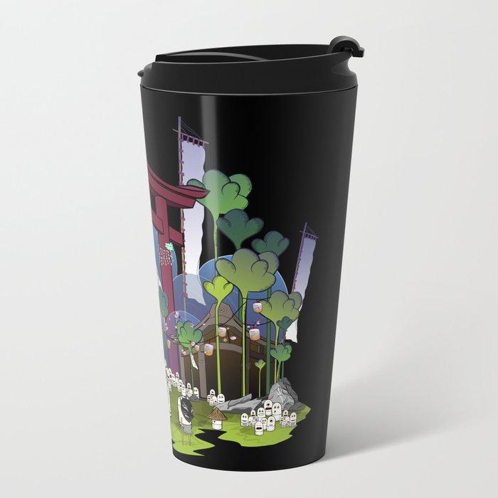 Torii night scene Travel Mug