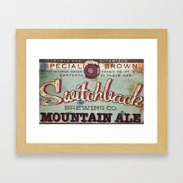 Vermont Brewers Series Switchback Framed Art Print