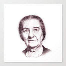 Golda Meir Canvas Print