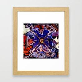 Butterflies in Cappella di Eleonora Framed Art Print