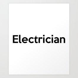 Electrician Art Print