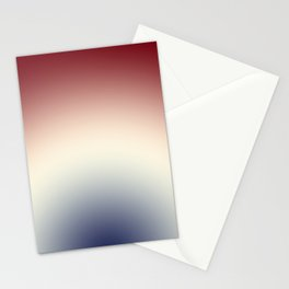 Radical Red White Blue Stationery Cards