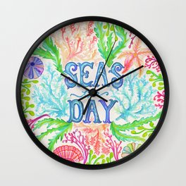 Seas the Day Wall Clock