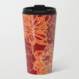 Oriental Red and Gold Travel Mug