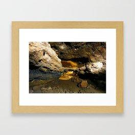 Lava tube cave Framed Art Print