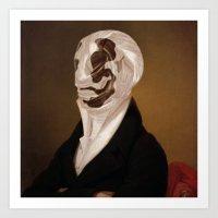 rorschach Art Prints featuring Rorschach by DIVIDUS