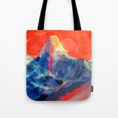 Abstract Mt. Everest Tote Bag