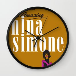 1963 African American Classic Carnegie Hall Nina Simone Gig Concert Poster Wall Clock