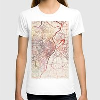 louis T-shirts featuring Saint Louis by MapMapMaps.Watercolors