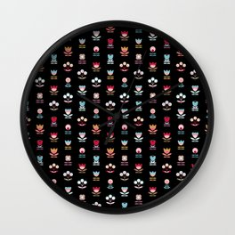 Pattern graphic flowers Wall Clock